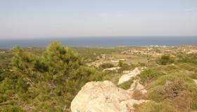 Kos moře obzor
